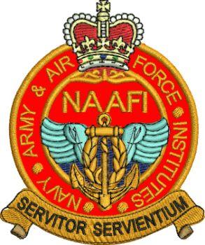 NAAFI Embroidered Badge